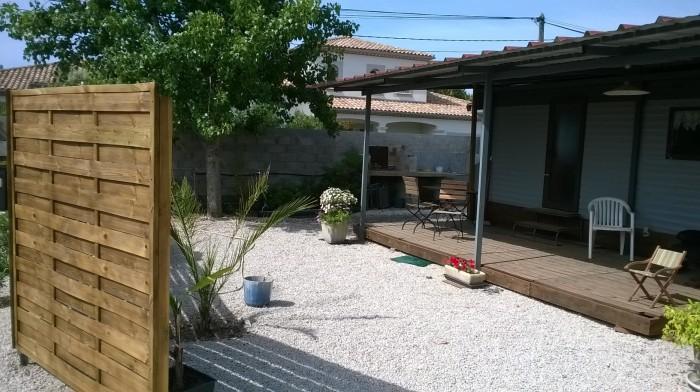 terrasse du mobilhome
